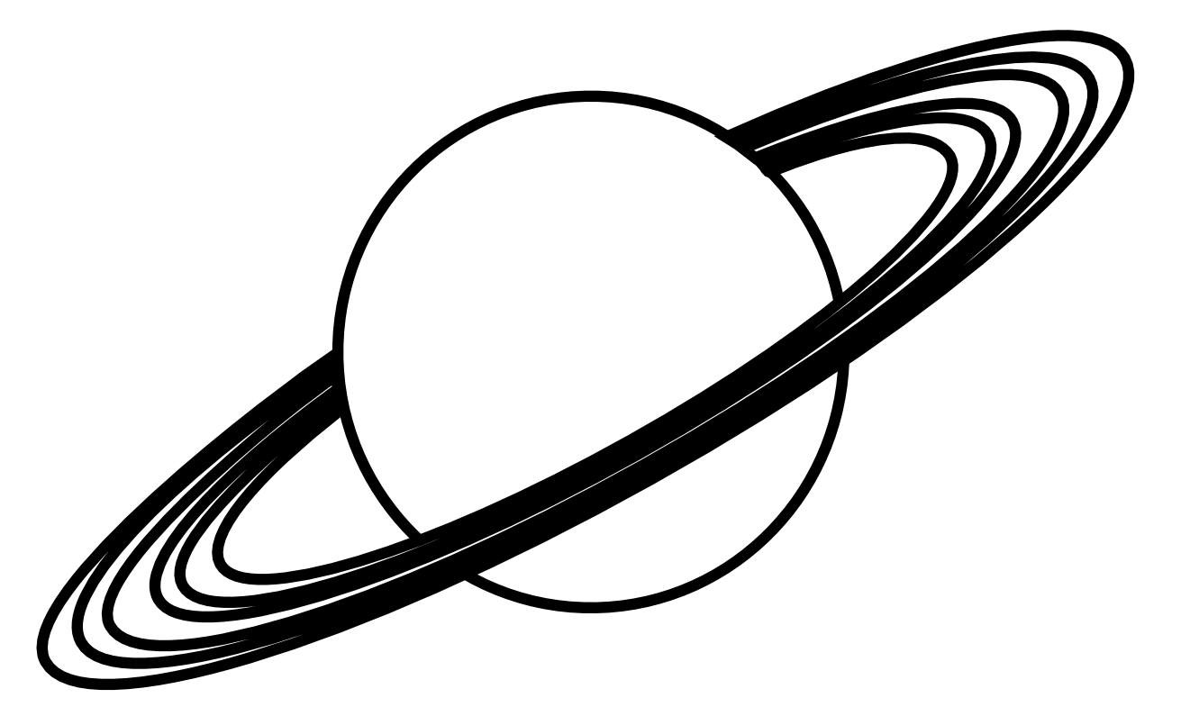 Planet Clipart Black And White Clipart Panda