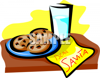plate of christmas cookies clipart