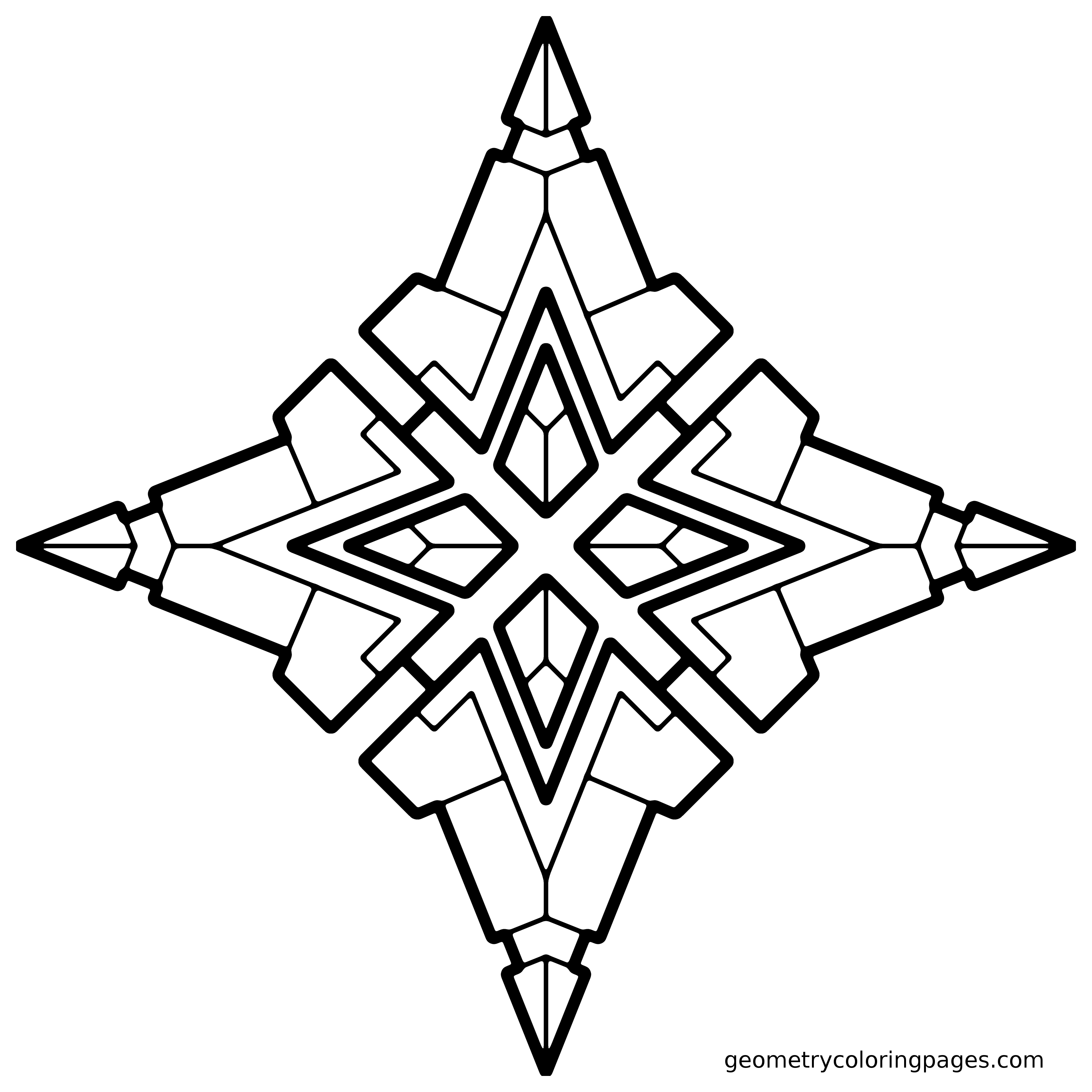 Geometric Coloring Pages Pdf Clipart Panda Free Clipart Images