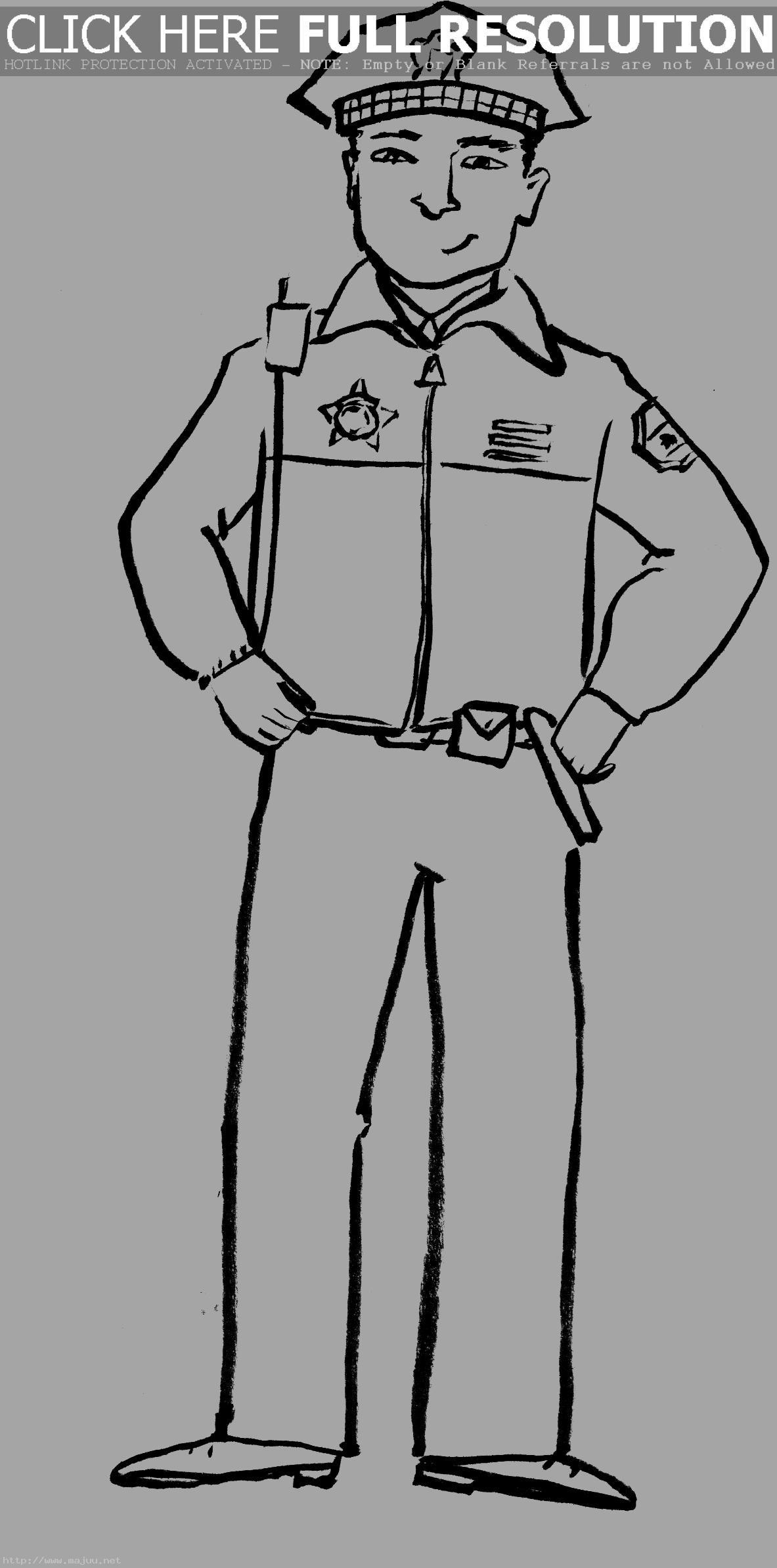 Police Officer Coloring Pages Clipart Panda