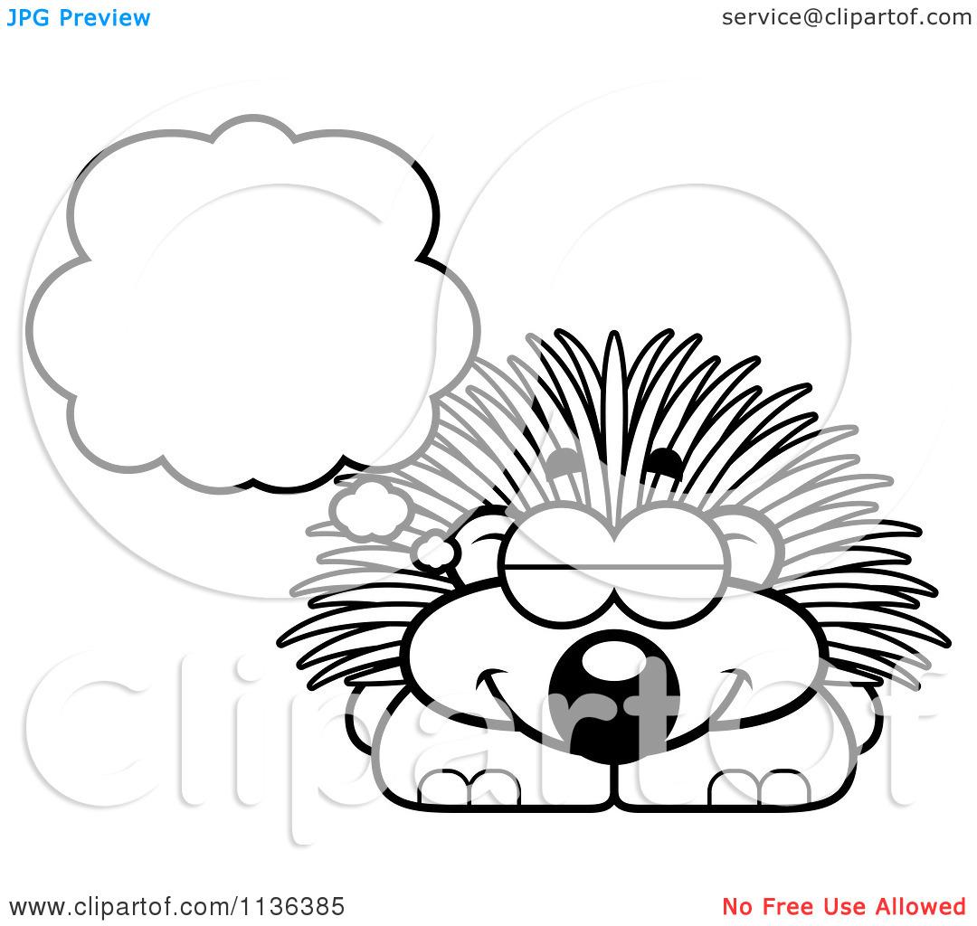Porcupine Color Page Sketch Coloring Page