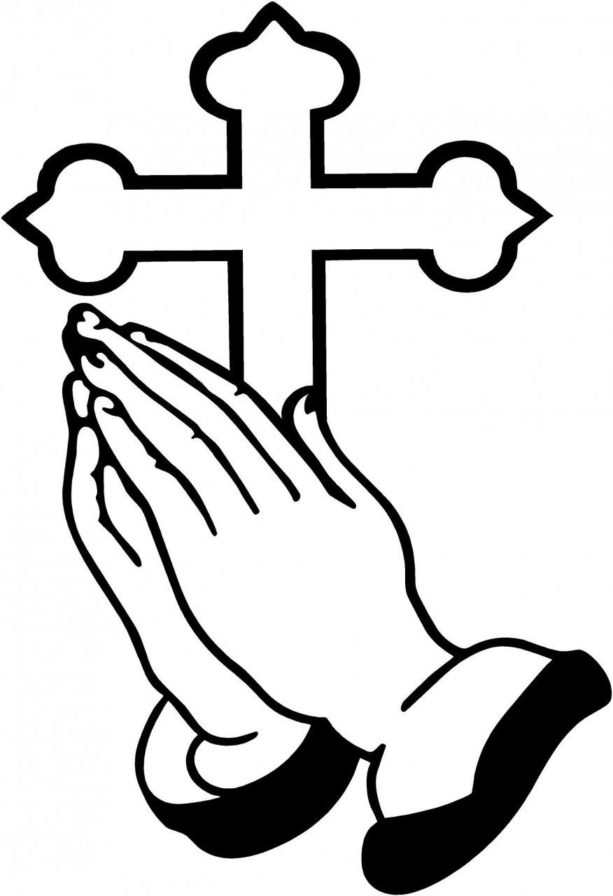 hight resolution of praying hands clipart
