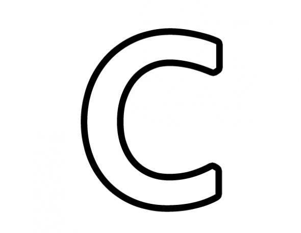 alphabet printable coloring clipart