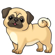 animals clipart dog pug