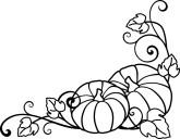 pumpkin clipart black and white