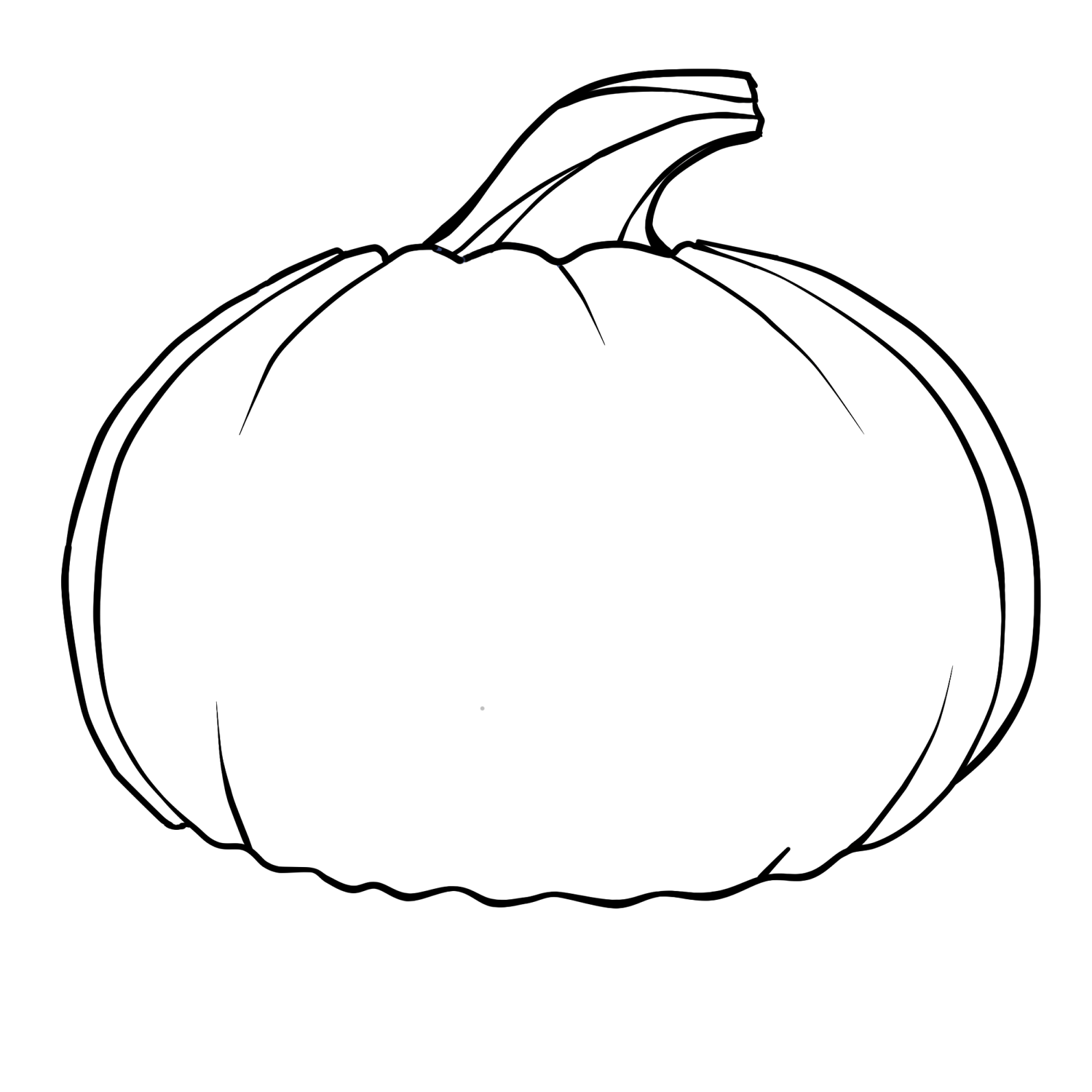 Pumpkin Outline Clipart Clipart Panda