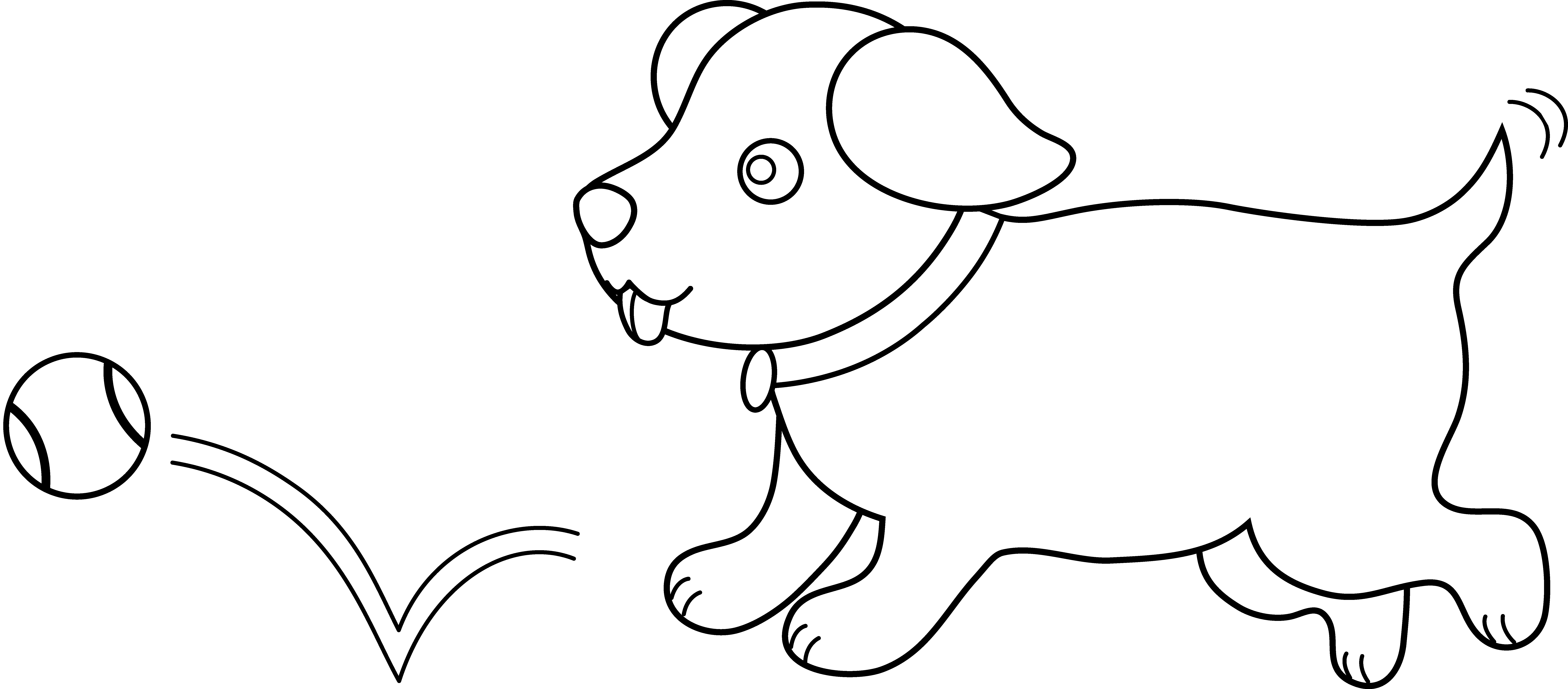 Puppy Clipart Black And White Clipart Panda