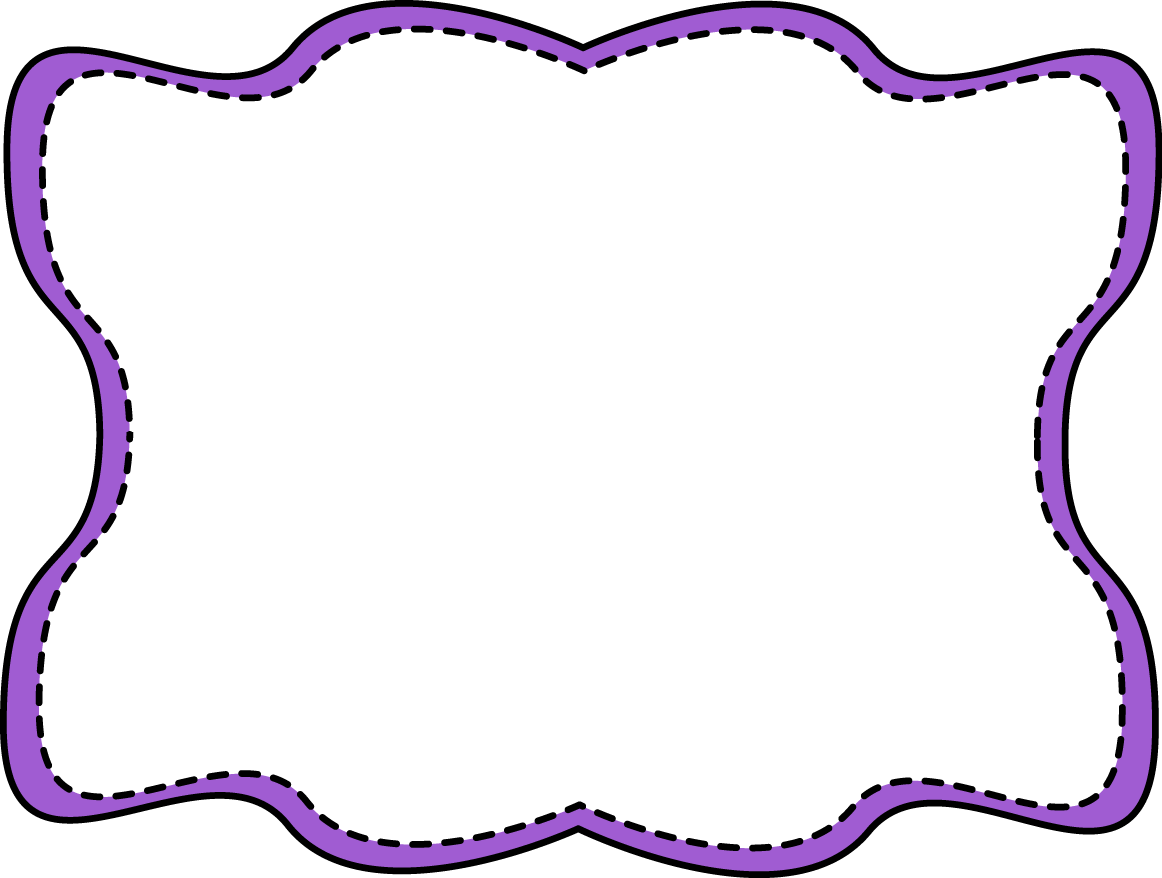 Purple Clip Art Border Clipart Panda