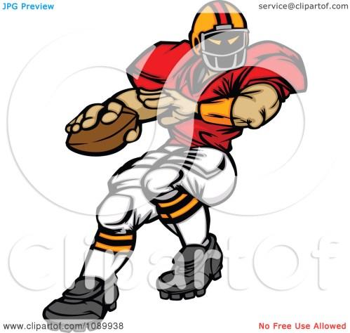 small resolution of quarterback clipart