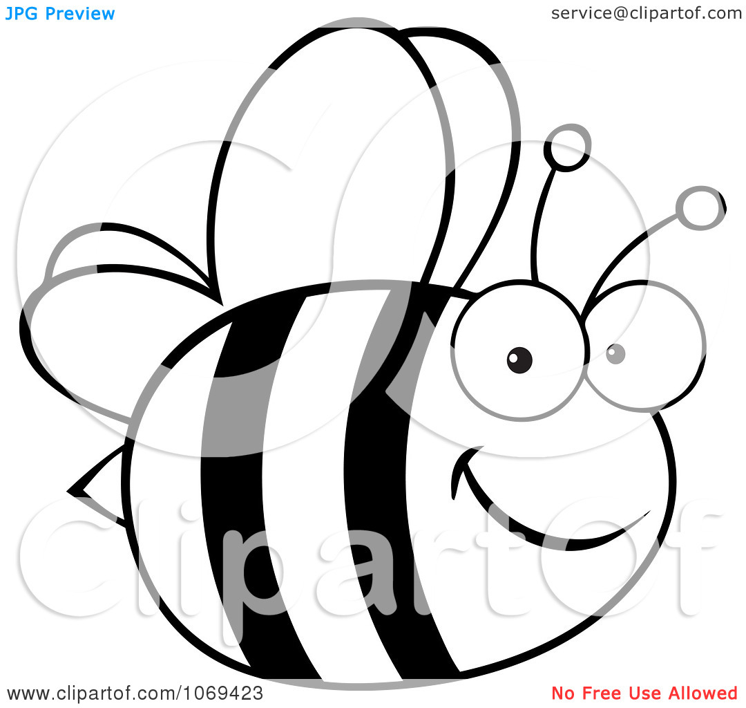 Clipart Black And White Bee Clipart Panda