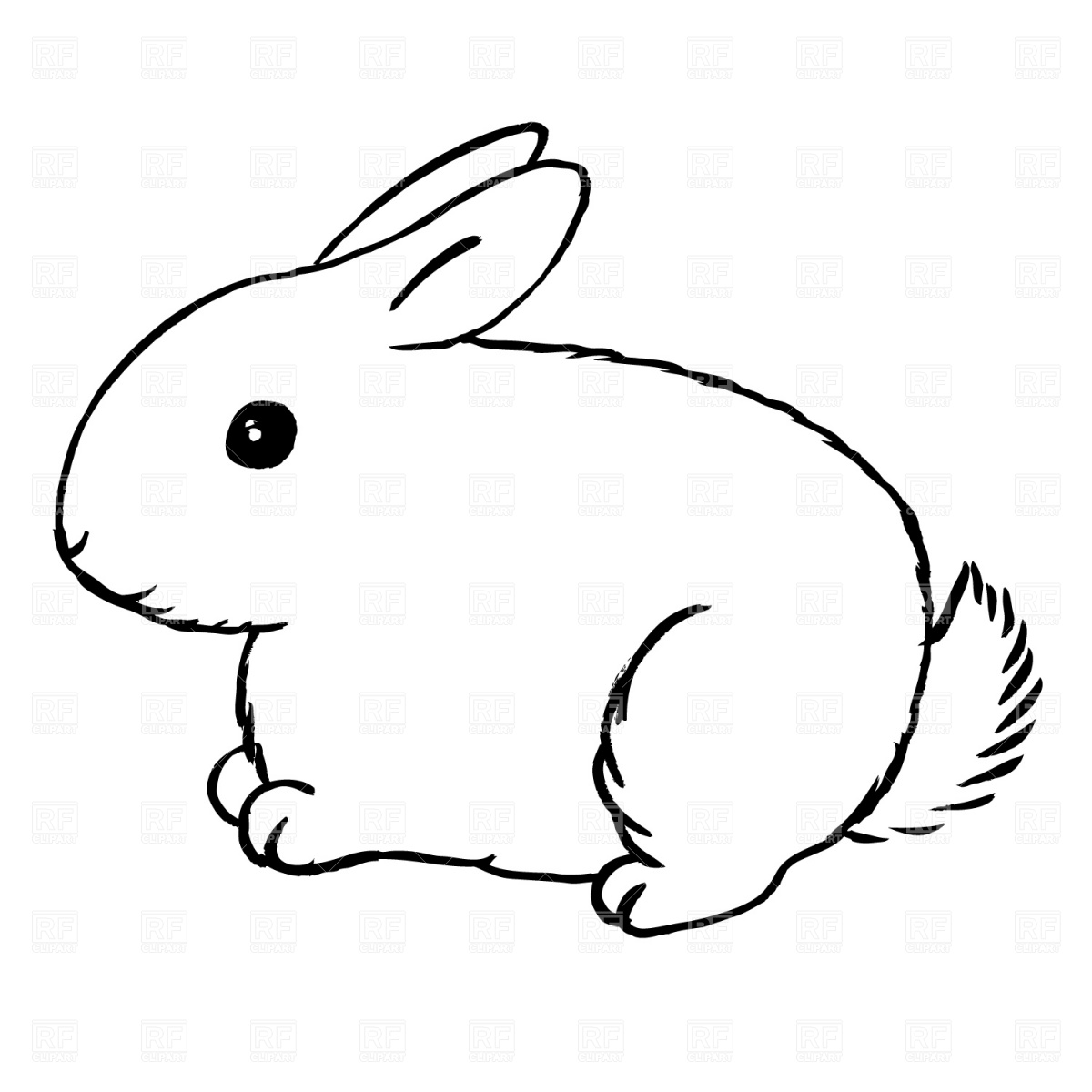 Bunny Clipart Black And White Clipart Panda