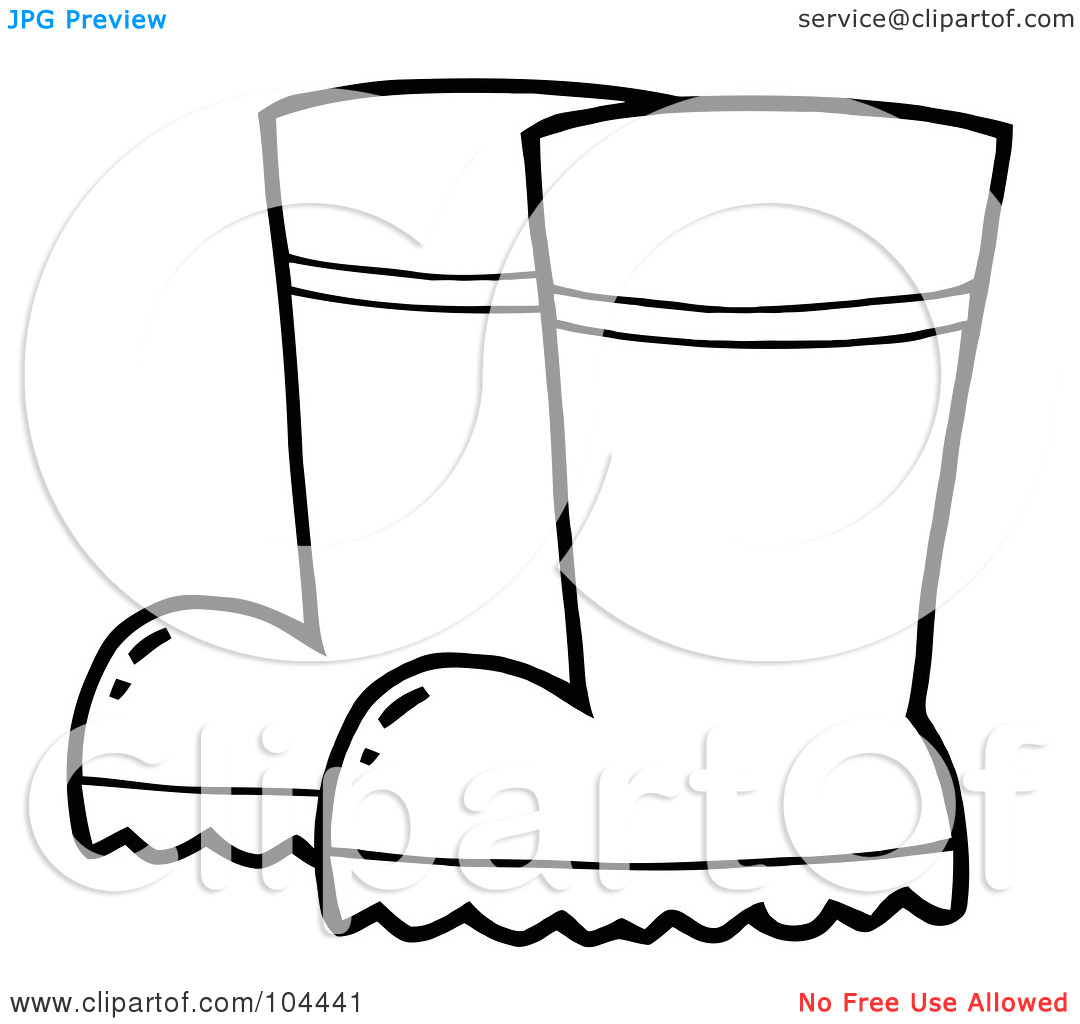Rain Boots Coloring Page Coloring Pages