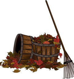 rake and leaves clip art [ 1600 x 1448 Pixel ]
