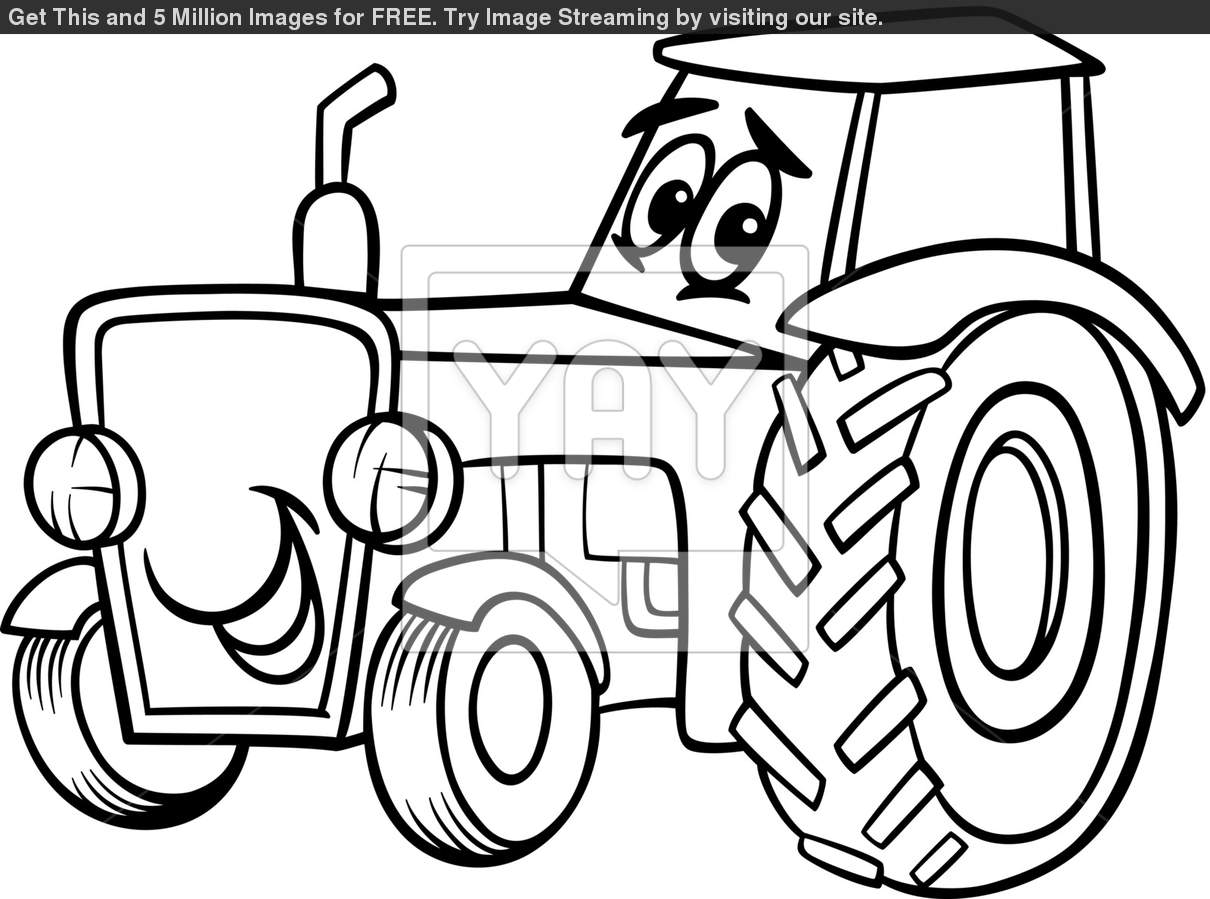 Coloring Pages Of Tractors Tractor Coloring Pages