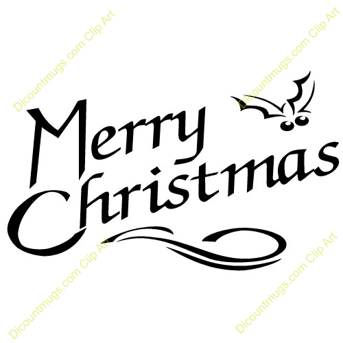 merry christmas in text with