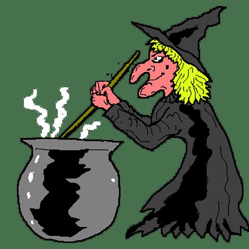 witch cauldron clipart