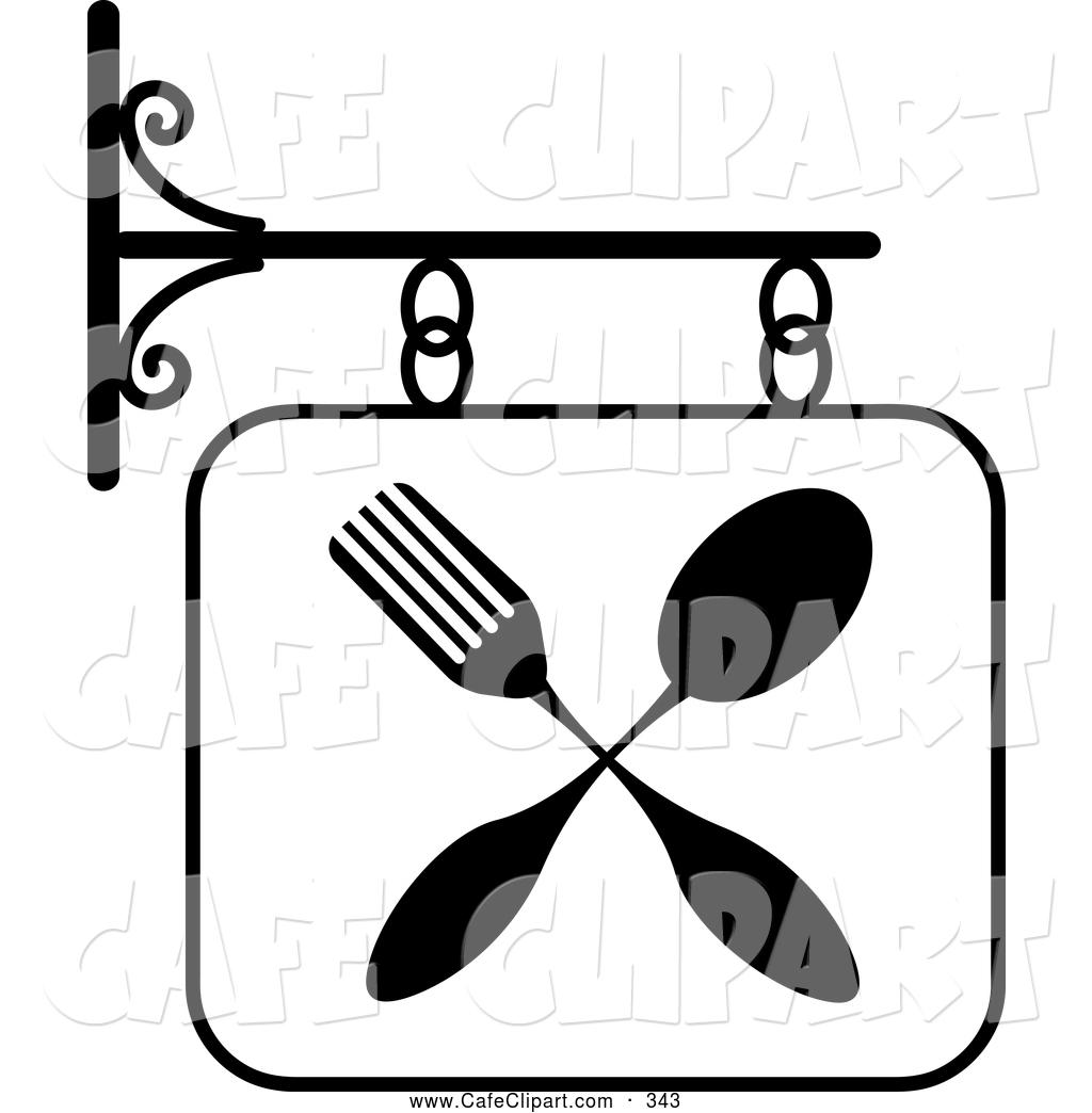 Restaurant Clipart Black And White Clipart Panda