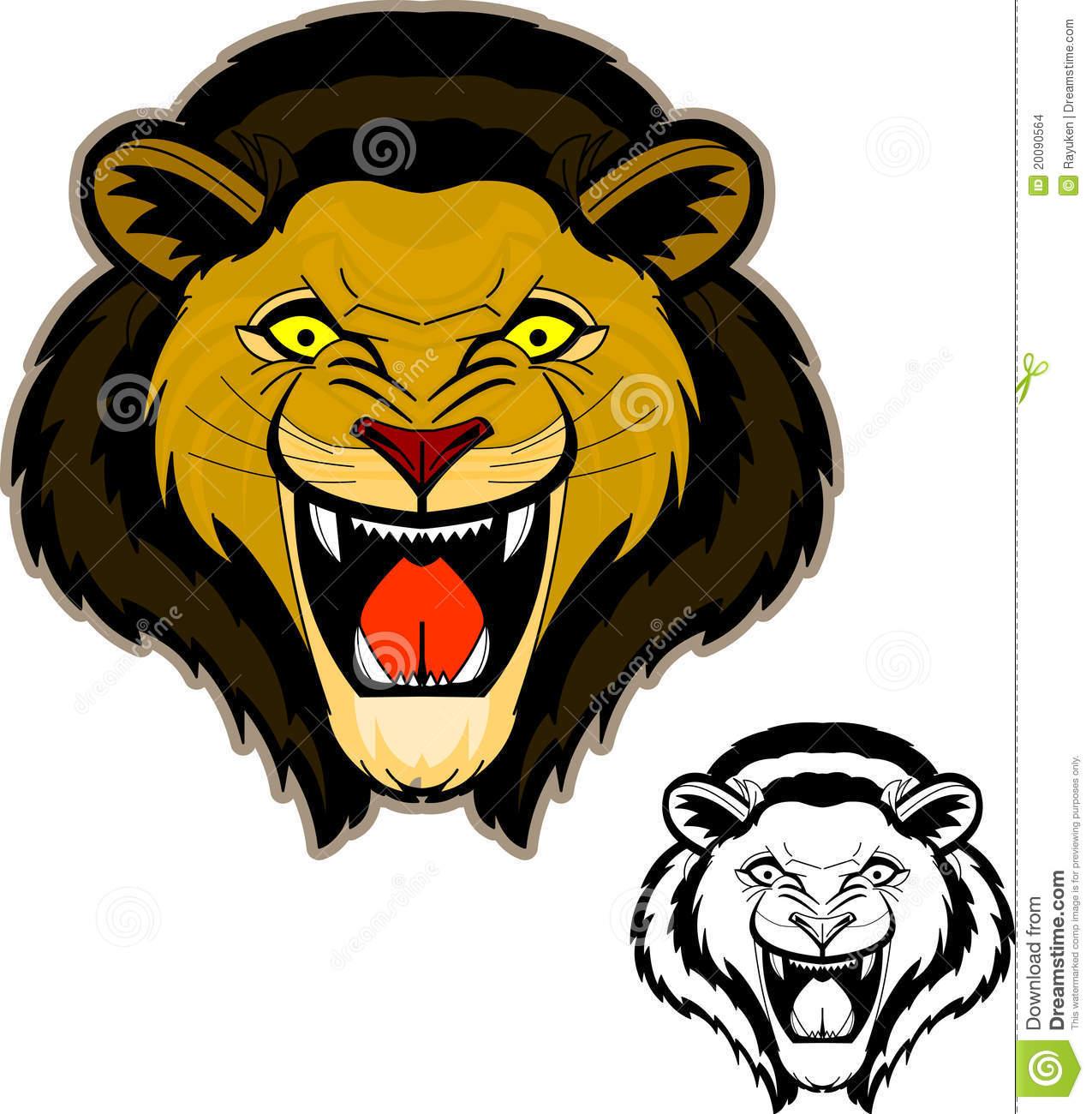 hight resolution of roaring lion head clip art