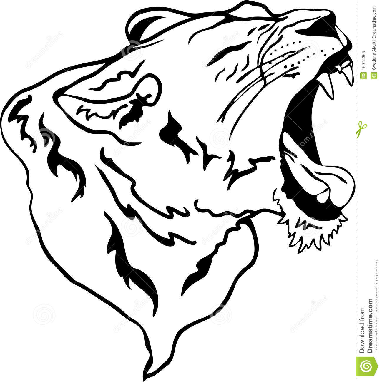 Lion Roaring Drawing Clipart Panda