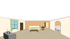 clipart living animated clip cartoon drawing drawn cliparts lounge library feature