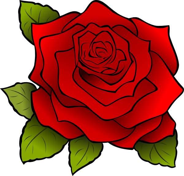 rose clip art outline clipart