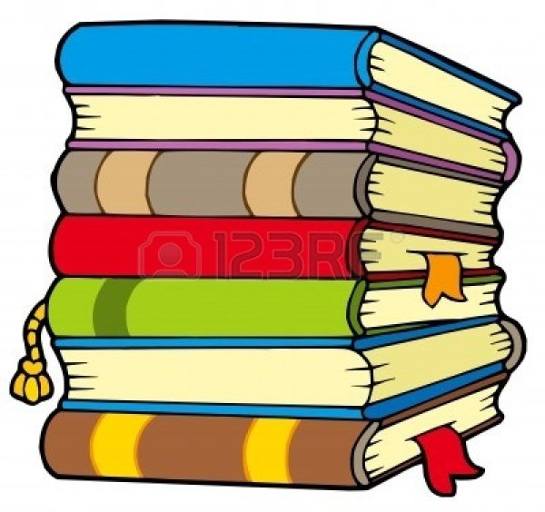 row of books clipart