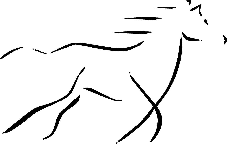 Running Horse Silhouette Clipart Panda