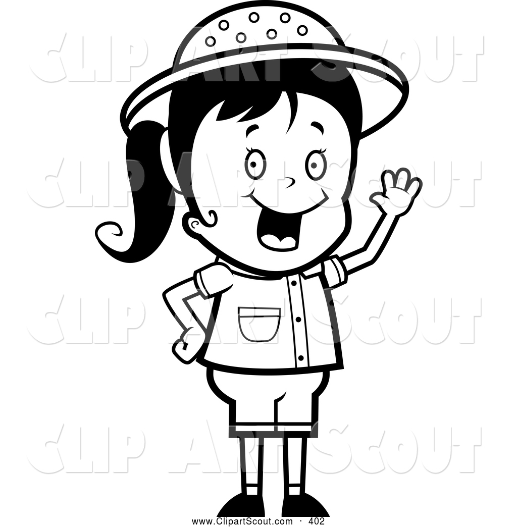 Excited Clipart Black And White Clipart Panda