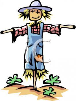 scarecrow in home garden clipart