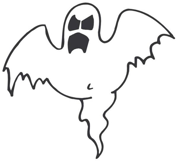 halloween ghost border clipart