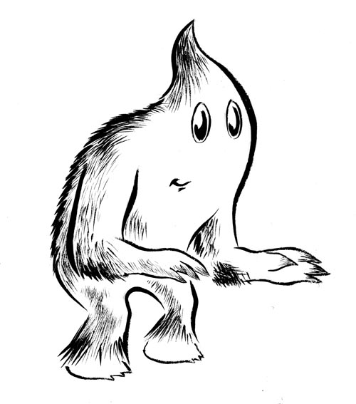 Draw a monster. Write a plausible backstory for the