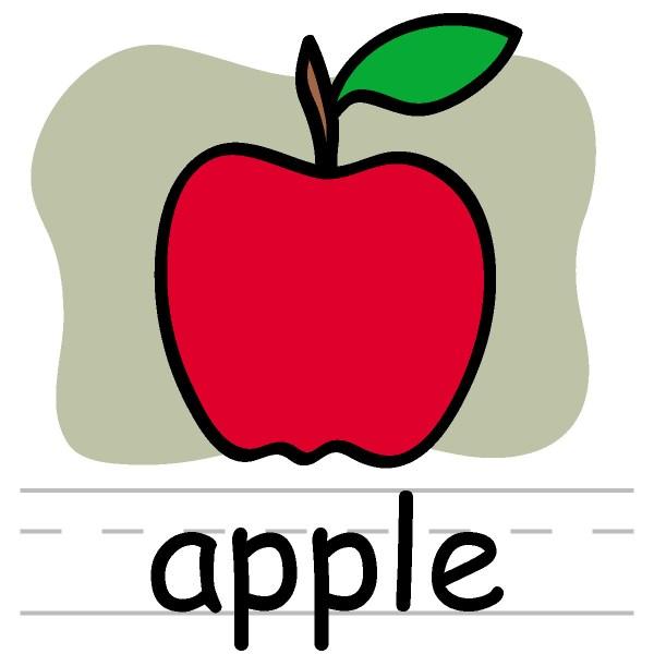 school apple clip art black