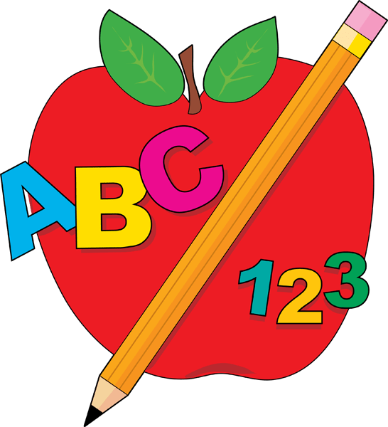 school apple clip art clipart