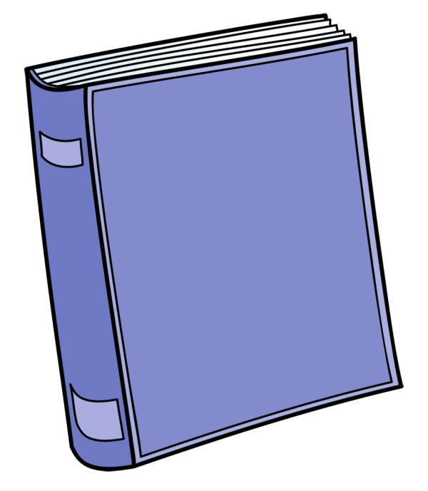 school books clipart black