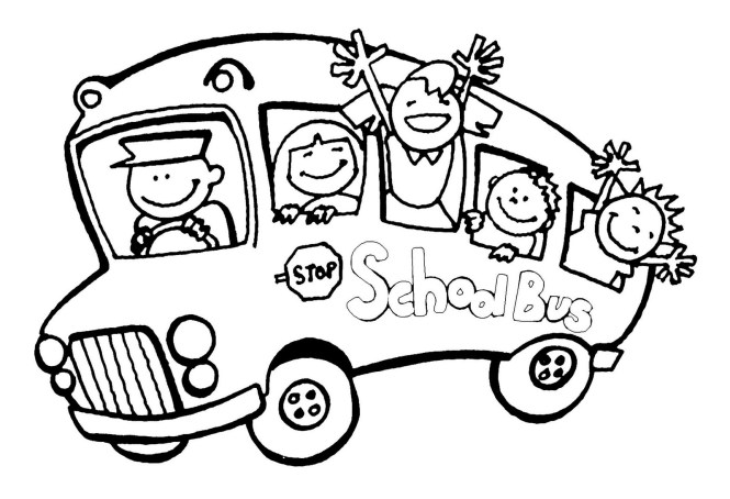 Free Coloring Pages School Bus | Coloring Page for kids