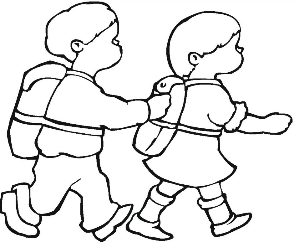 Pedestrian Safety Coloring Pages Coloring Pages