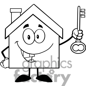 Schoolhouse Outline For Coloring Coloring Pages
