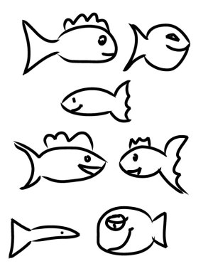 fish drawing coloring simple sheet template clipart line drawings toddlers cliparts step experimental katie clipartmag drew children clip panda library