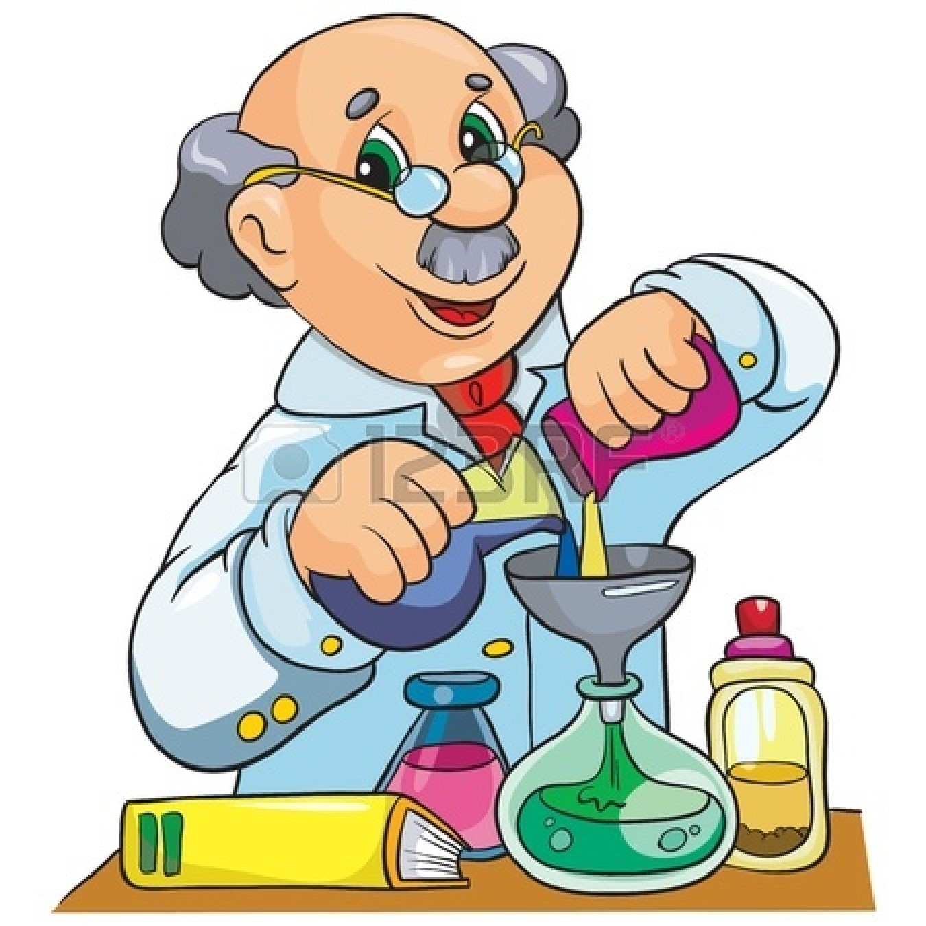 hight resolution of scientist clipart