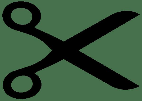 scissors clipart black and white