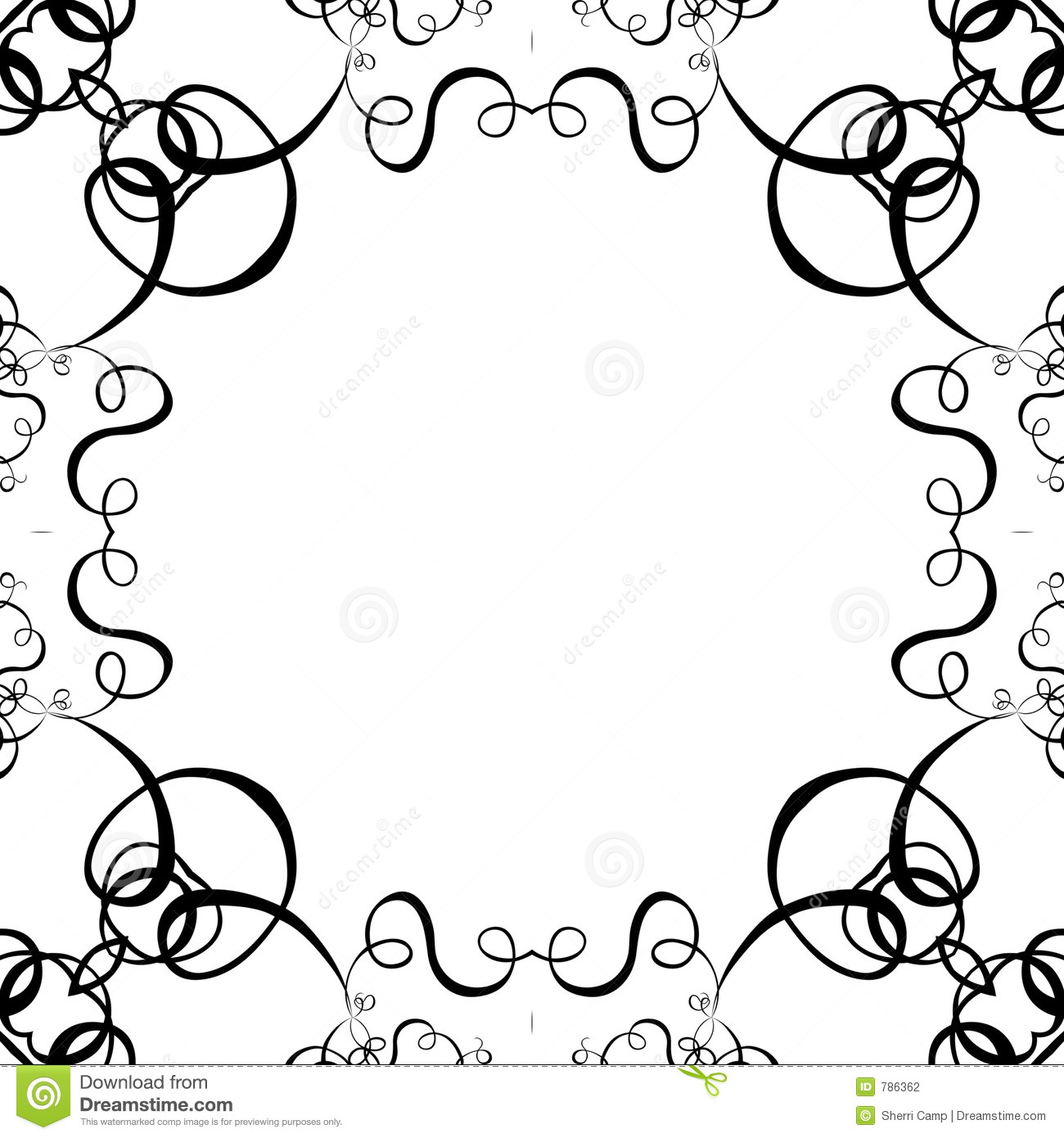 Cute Stitch On Side Wallpaper Black Scroll Frame Clip Art Clipart Panda Free Clipart