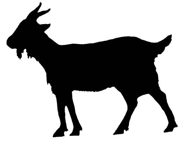 Shiloutte Clip Art Goat