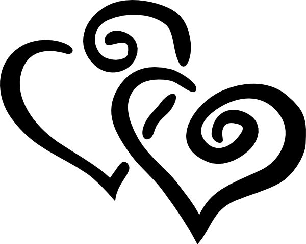 love clipart black and white