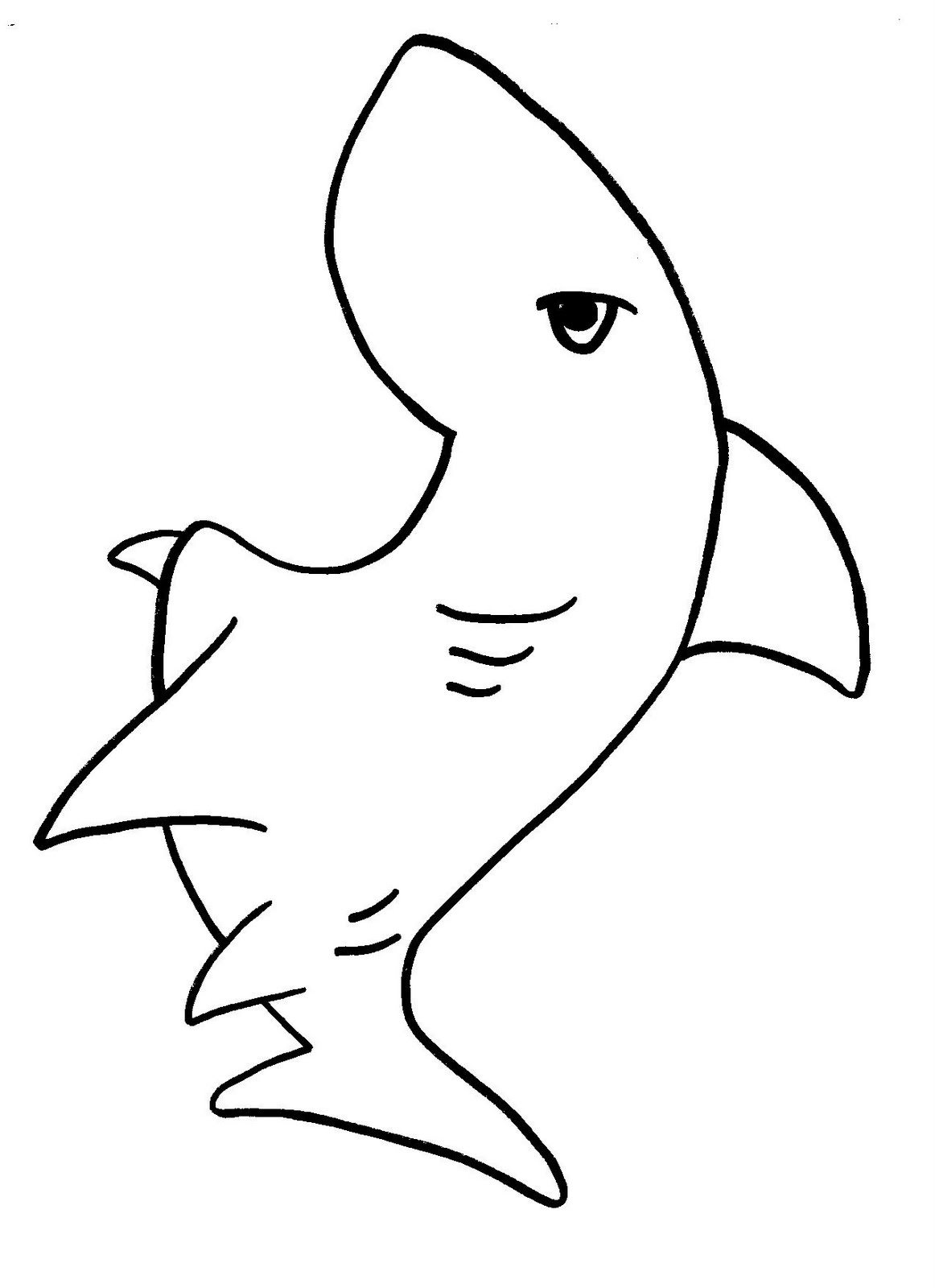 Shark Coloring Pages Clipart Panda