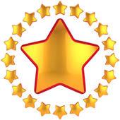 shining gold star clipart