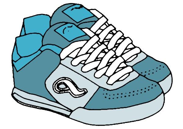 tennis shoes clipart black