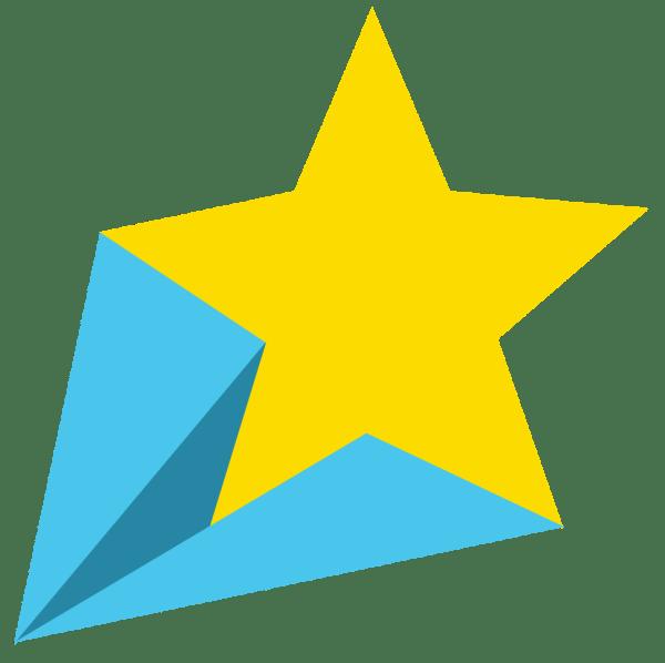 shooting star border clip art