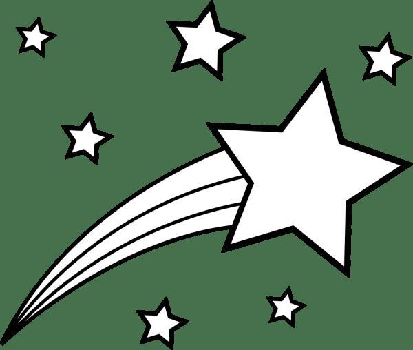 shooting star clip art outline