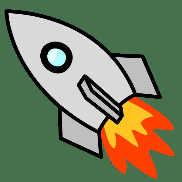 rocket clipart panda