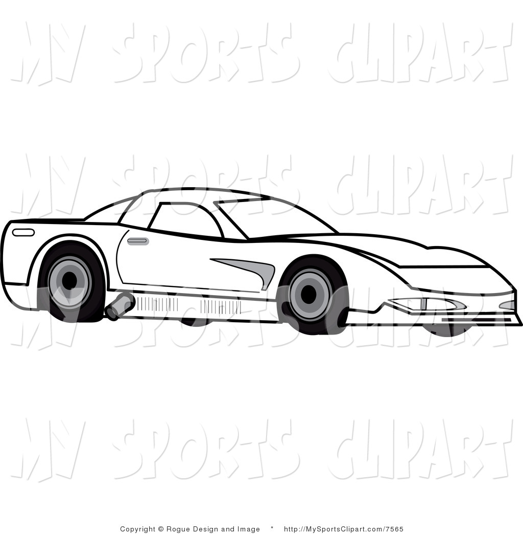 Sports Car Clipart Black And White Clipart Panda